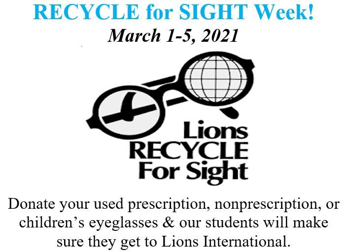 Recycle for Sight Week